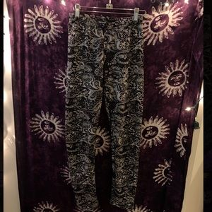 Docele Paisley Leggings With Fur Lining